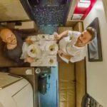 Silvester im Flugzeug, Etihad First Class A380