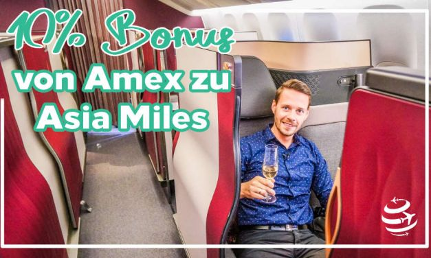 10% Bonus bei Umwandlung von Amex Punkten in Asia Miles