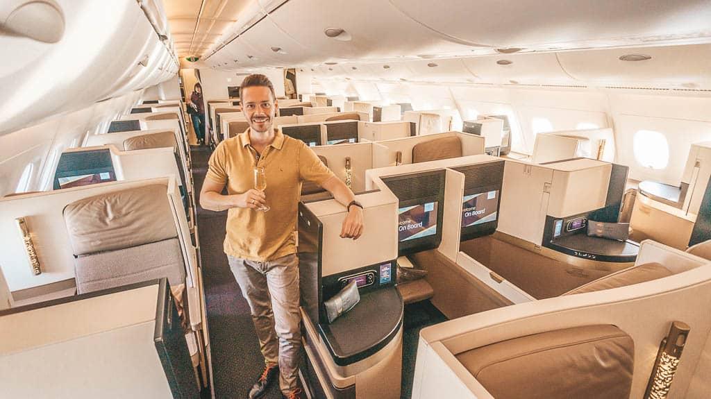 Richtig gut! Etihad Business Class A380