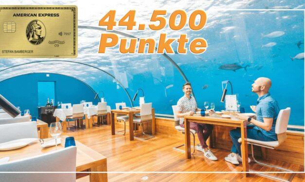Rekord! 44.500 Punkte für die American Express Gold