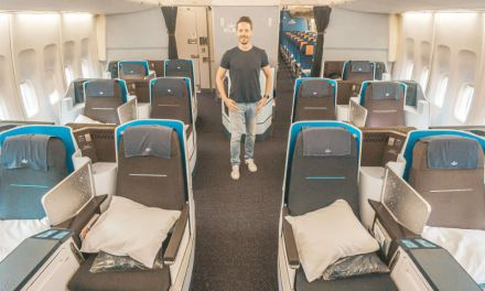 KLM 747 Business Class auf dem Thron