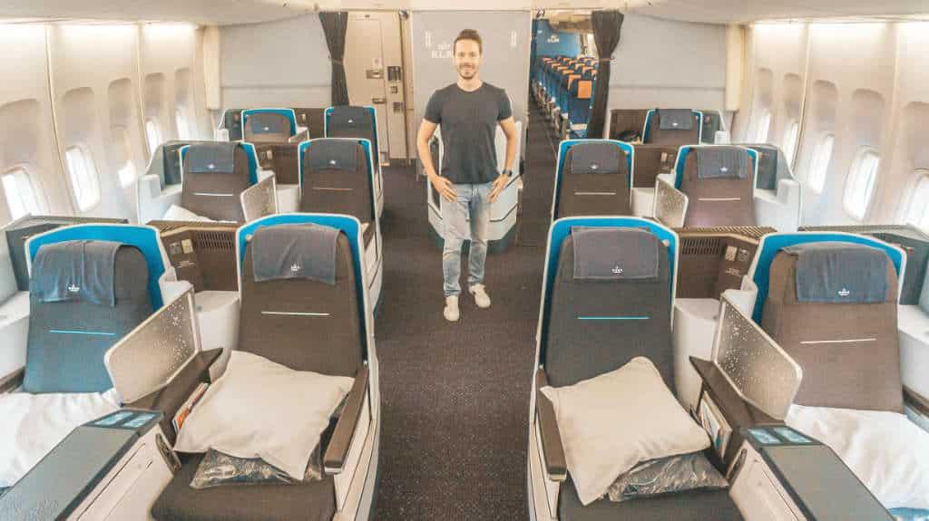 KLM 747 Business Class auf dem Thron