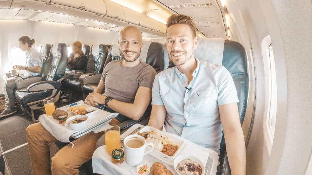 Mit der British Airways 737 von Kapstadt nach Johannesburg