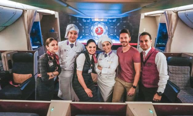 Turkish Airlines Business Class durch die Nacht 777-300ER