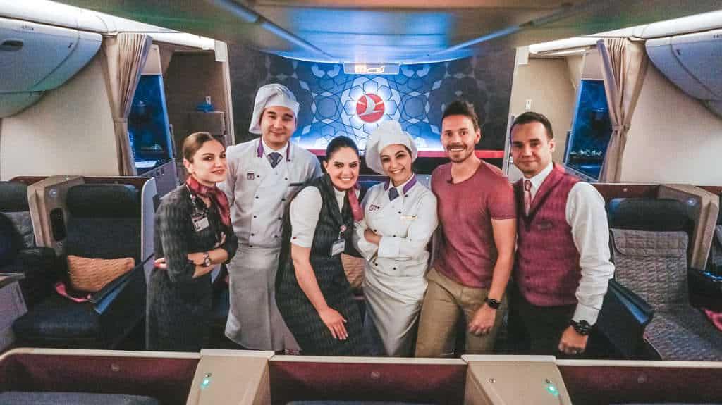 Turkish Airlines Business Class durch die Nacht 777-300ER
