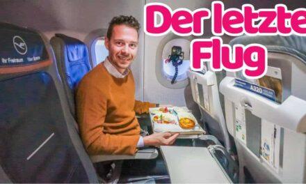 Unser letzter Flug 2020, Lufthansa Business Class nach Hannover