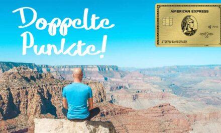 Doppelte Punkte bei der American Express Gold Karte