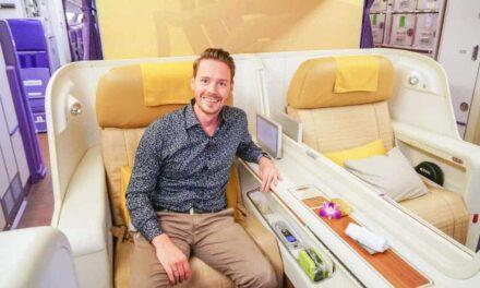 Thai Airways First Class A380 Tokio-Bangkok