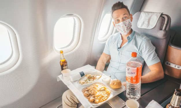 Lufthansa Business Class A330 im August 2020 nach Dubai