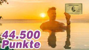 American Express Gold Card mit 44.500 Bonuspunkten