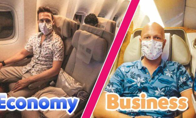 Emirates Flug in Economy & Business Class
