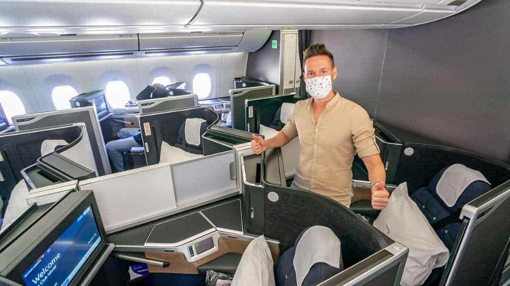 British Airways Club Suite mit den Corona-Einschränkungen