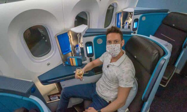 KLM 787 Business Class, fast wie vor Corona!