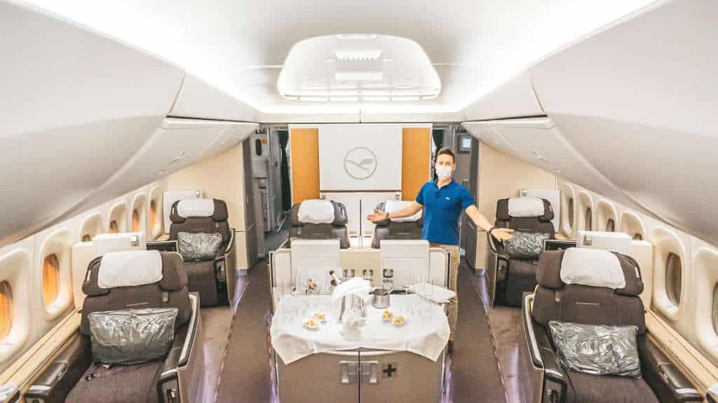 Lufthansa First Class mit aktuellen Einschränkungen