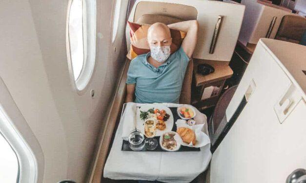 Etihad 787-10 Business Class mit den Einschränkungen aktuell
