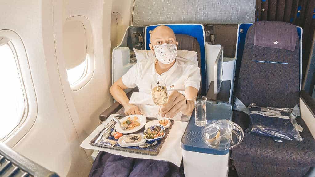 KLM Business Class mit den aktuellen Einschränkungen