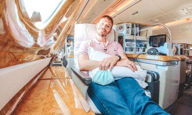 Emirates A380 Business Class zurück nach Deutschland