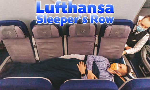 Lufthansa Sleeper's Row in der 747-8