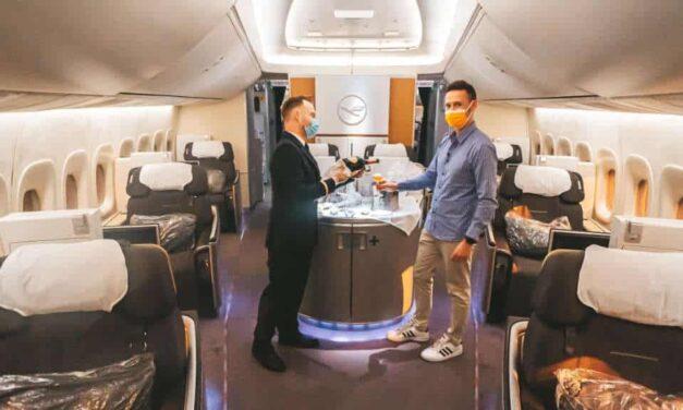 Lufthansa 747-8 First Class – Mitte 2021