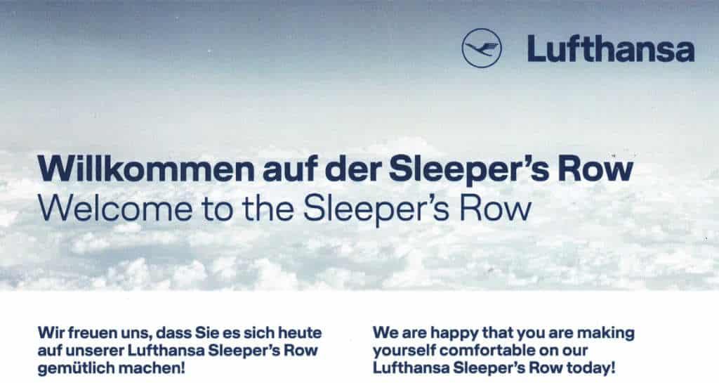 Lufthansa Sleppers Row
