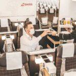 Trotz Krise rentabel! SWISS 777 Business Class