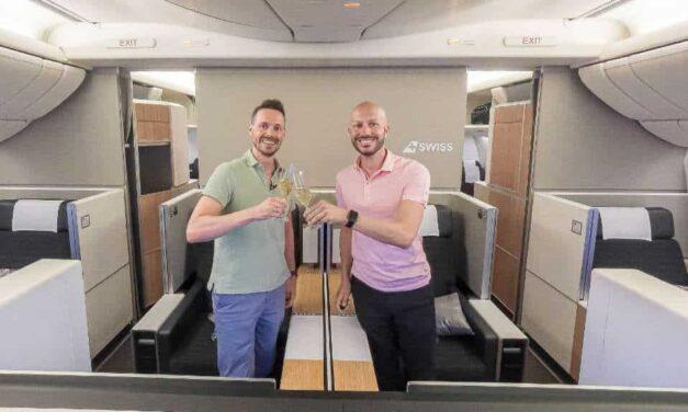 SWISS First Class Lounge & Langstrecke 777