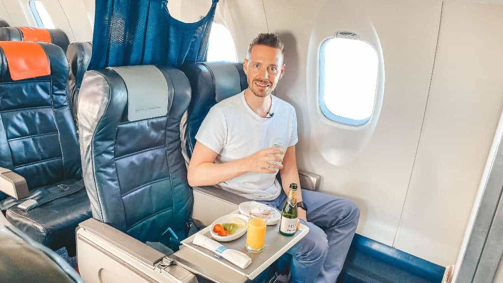 Jetzt doch Getränke? Iberia Regional Business Class